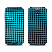 DecalGirl SGS4-HTOOTH-BLU for for for for for for for for for for Samsung Galaxy S4 Skin - Teal Houndstooth