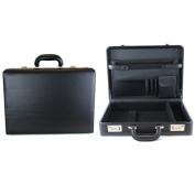 Heritage Travelware 840565 44cm . Black Vinyl Single Gusset Computer Case & Attache