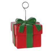 Beistle 20741 Christmas Gift Box Photo-Balloon Holder Pack Of 6