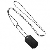 Fox Outdoor 57-621 GI Black Stainless Dog Tag Chain - 2 Pieces