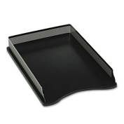 Eldon Office Products E22615 Distinctions Self-Stacking Desk Tray Metal/Black