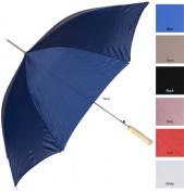 RainWorthy 120cm Solid Colour Automatic Umbrella - Red - 065-24RED
