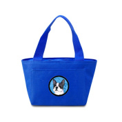 Carolines Treasures SS4792-BU-8808 Blue Boston Terrier Zippered Insulated School Washable And . Lunch Bag Cooler