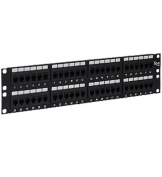 Icc ICC-ICMPP48CP5 Patch Panel Cat 5e Feed Thru 48 Port 2rms