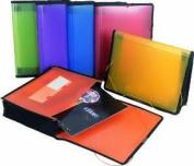 Filexec Single Pocket Expanding File Letter Size Assorted Pack 6