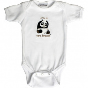 Lil Cub Hub 3WSSOP-612 White Short Sleeve Onesie - Panda 6-12 months