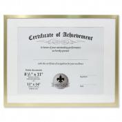 Lawrence Frames 240211 Dual Use Gold Aluminium Document Frame - Brass 2cm .