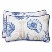 Pillow Perfect 535777 Sealife Marine Rectangular Throw Pillow