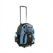 Transworld 738131-SKY Roll-Away Deluxe Rolling Backpack Sky Blue