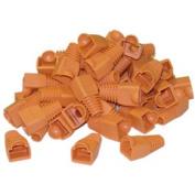 Cable Wholesale RJ45 Strain Relief Boots Orange 50 Pieces Per Bag