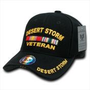 Rapid Dominance RD-DSV Deluxe Military Baseball Caps Desert Storm Vet Black