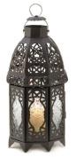 Zingz & Thingz 57070788 Black Lattice Candle Lantern