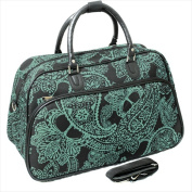 All-Seasons 812014-642 50cm . Bandana Carry-On Shoulder Tote Duffel Bag Black & Blue