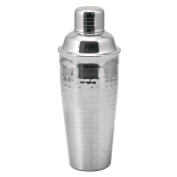 True Fabrications 2664 Hammered Metal Cocktail Shaker - Pack of 6