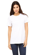 Bella 6400 Womens Relaxed Jersey Short Sleeve Tee - White Extra Large