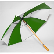 Elite Rain Frankford 2988WS-FW Wooden Shaft Golf Umbrella Forest Green and White