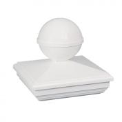 Classy Caps BN244 NEW ENGLAND BALL PVC POST CAP 4X4 - White