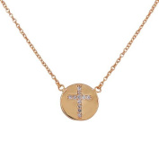 925 Sterling Silver Religious Cross White CZ Classic Pendant Necklace