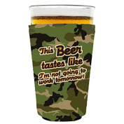 Coolie Junction This Beer Tastes Like... Funny Pint Glass Coolie Camo