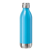 Oggi 8083.5 Stainless Steel Calypso Double Wall Sports Bottle with Screw Top (.5 Litre, 500ml )-Blue Neon Finish
