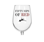 50 Sips of Red - Funny Wine Glass - 470ml Libbey Glass