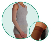 Juzo 2001CGLSB10 VI Soft 2001CG Armsleeve 20-30mmHg with Silicone Top Band - Size- VI - XX-Large Length- L-Long Colour- Black 10