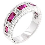 Sunrise Wholesale Merchandise J3471 Nightlife Garnet Eternity Band Ring (size