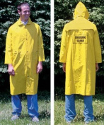 Olympia Sports SS179M Yellow Fluorescent Raincoat with Emblem-Large