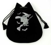 AzureGreen RVBW5 Witch Velveteen Drawstring Bag