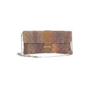 Aryana Rina-2-Claret Chic Claret Tweed Chain Strap Clutch Style Womens Handbag