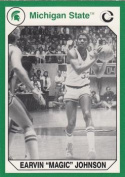 Autograph Warehouse 101206 Earvin Magic Johnson Basketball Card Michigan State 1990 Collegiate Collection No. 189