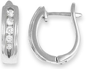 Doma Jewellery MAS00973 Sterling Silver Huggy Earrings with CZ