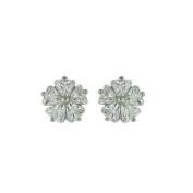 Vera & Co. Inc. 2S-5647CL Sterling Silver Stud flower