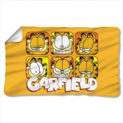 Trevco GAR528-BKT1-0 90cm x 150cm . Garfield And Faces Fleece Blanket - White