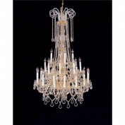Weinstock Lighting 5500-16+8+4HC Crystal Chandelier Antique Reproduction with Hand Polished crystal trim