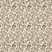 Designer Fabrics F416 140cm . Wide Dark Brown And Beige Floral Matelasse Reversible Upholstery Fabric