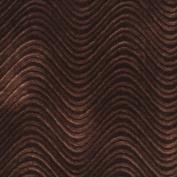 Designer Fabrics C849 140cm . Wide Brown Classic Velvet Swirl Automotive Residential And Commercial Upholstery Velvet