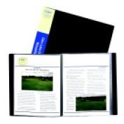 C-Line Bound Sheet Protector Presentation Book - 12-Pocket Black