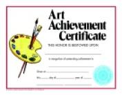 Hayes Style C Art Achievement Certificate - 22cm x 28cm . - Pack 30