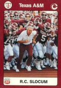Coach R.C. Slocum Football Card (Texas A & M) 1991 Collegiate Collection No.4
