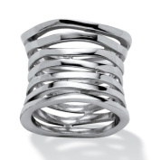 PalmBeach Jewellery 469966 Sterling Silver Tailored Multi-Tier Band Size 6