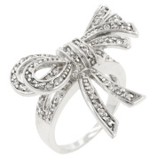 Icon Bijoux R08043R-C01-09 Large Cz Bow Ring (Size