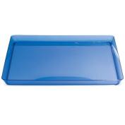 Trendware 173428 29cm . Translucent Blue Square Tray - Case of 6