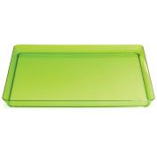 Trendware 173431 29cm . Translucent Green Square Tray - Case of 6