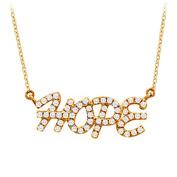 Fine Jewellery Vault UBNPD32221Y14D 14K Yellow Gold Diamond Hope Pendant Necklace 0.33 CT TDW