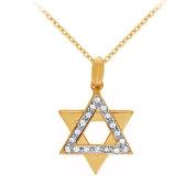 Fine Jewellery Vault UBNPD30383Y14D 14K Yellow Gold Diamond Star Pendant Necklace 0.15 CT TDW