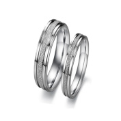 ES Jewel GJ094B6 Stainless Steel Ring Texured Band - Size 6 Womens
