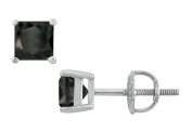 Fine Jewellery Vault UBER14WHSQ200BOX 14K White Gold Prong Set Square Onyx Stud Earrings 2 CT TGW.
