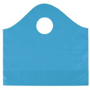 Deluxe Small Business Sales 53-SPWVS-53 12 x 10cm x 28cm . Frosted Wave Merchandise Bags Lagoon Blue