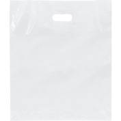 Deluxe Small Business Sales 25-1518-9 38cm x 46cm . and 10cm . BG Low Density Patch Handle Bags White